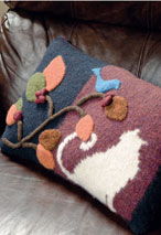 Felted Applique Pillow Pattern Pattern