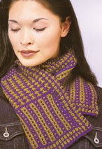 Slip Stitch Sampler Scarf Pattern