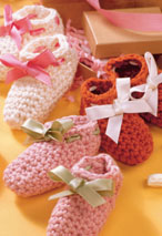 Crocheted Booties Pattern Pattern