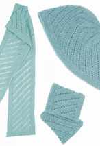 Fish Trap Hat- Wrist Warmers & Scarf Pattern Pattern