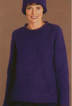 Roll-Neck Raglan Pullover with Hat Pattern Pattern