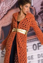 Erykah Crocheted Coat Pattern Pattern