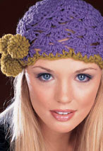 Angeled Shell Pompom Hat Pattern Pattern