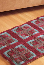 Log Cabin Quilted Rug Pattern Pattern
