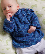 Blue Wave Baby Sweater Pattern Pattern