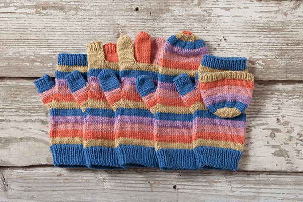 Line by Line Mittens Pattern