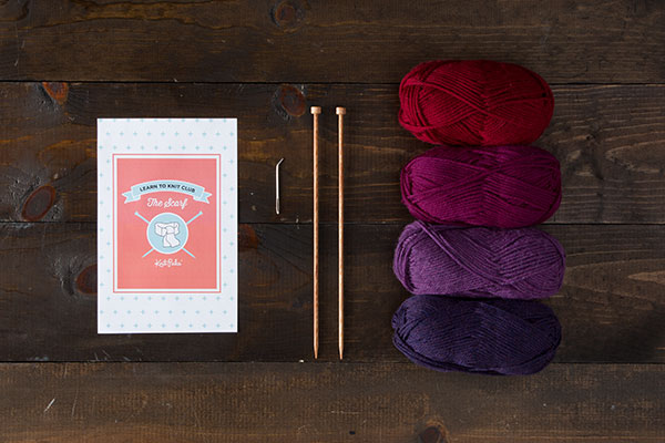Learn to Knit Club: The Scarf Kit - Jewel