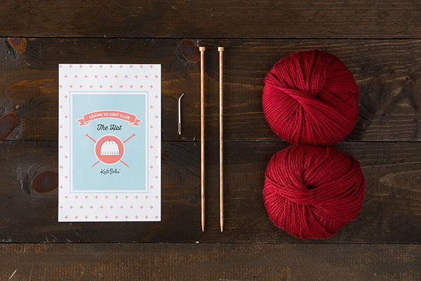 Learn to Knit Club: The Hat Kit - Red