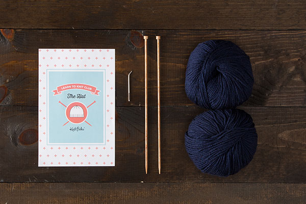 Learn to Knit Club: The Hat Kit - Blue