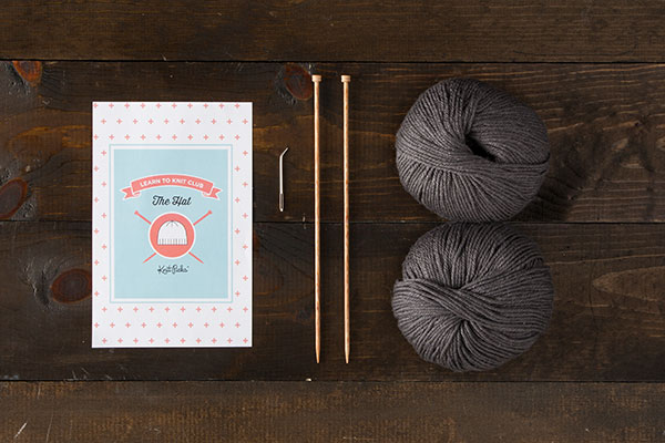 Learn to Knit Club: The Hat Kit - Dark Grey