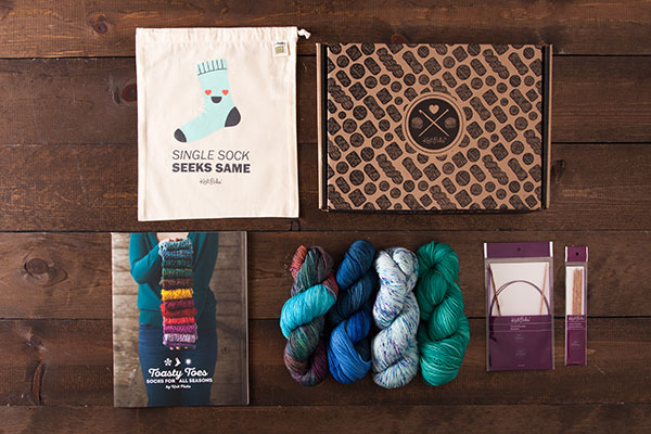 Hand Painted Socks Boxed Kit - Ocean