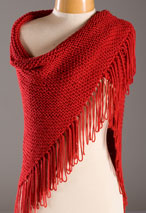 Red Hat Lady Shawl Pattern Pattern