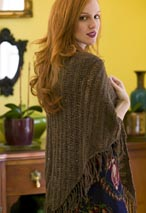 City Tweed Dropped-Stitch Shawl Pattern