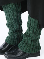 Cabled Legwarmers Pattern Pattern