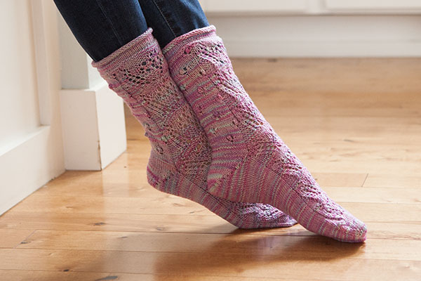 Wildflowers Socks Pattern Pattern