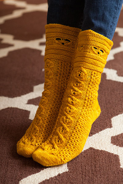 Busy Bees August Sock Pattern Pattern