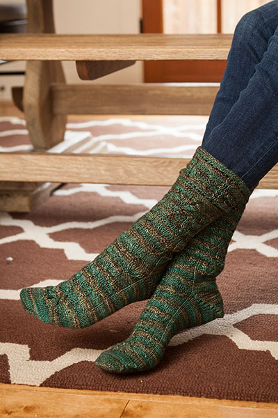 Falling Leaves Socks Pattern