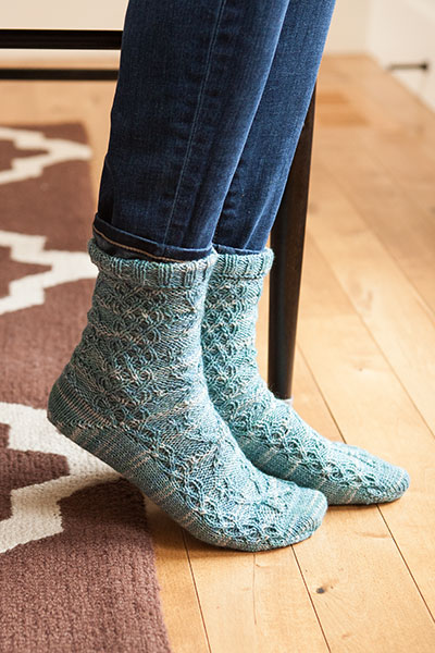 Snowflakes Socks Pattern
