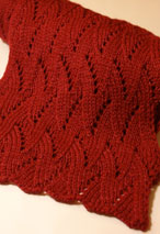 Winter Flame Scarf Pattern