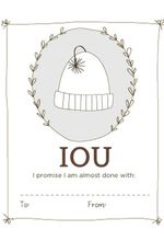 IOU Labels - Printable Download Pattern