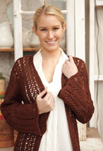Chrysanthemum Crocheted Cardigan Pattern