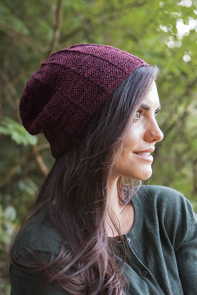 Light Basics Garter Ridge Hat - Slouch Version Pattern
