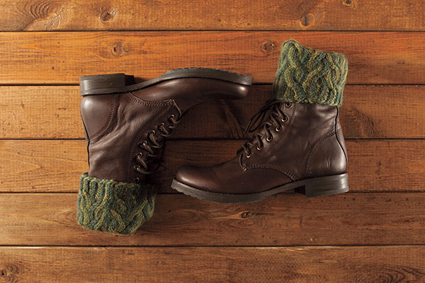 Twisted Lines Boot Toppers Pattern