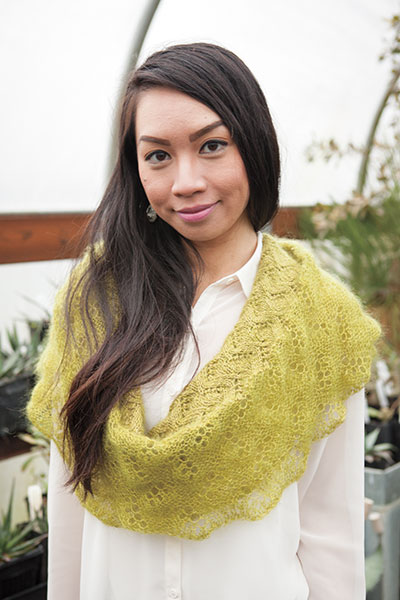 Romantic Lace Edge Cowl Pattern