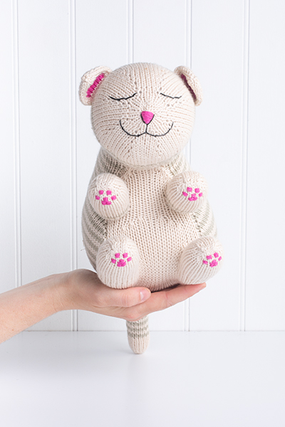Sleepy Kitty Soft Toy Pattern