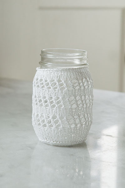 Eyelet Lace Mason Jar Cozy Pattern