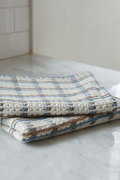 Crocheted Woven Towel Pattern