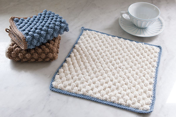 Bobble Crocheted Washcloth Pattern