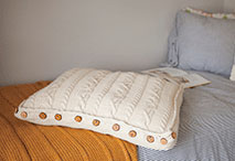 Comfy Cabled Floor Pillow Pattern