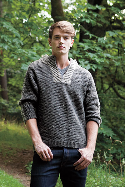 Men's Staghorn Waffle Sweater Pattern