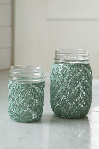 Chevron Mason Jar Cozy Pattern