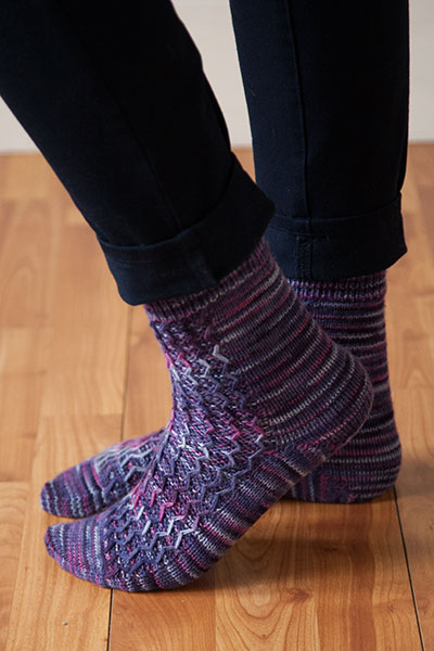 Meandering Socks Pattern