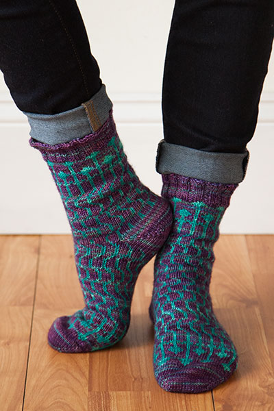Heavenly Shades Socks Pattern