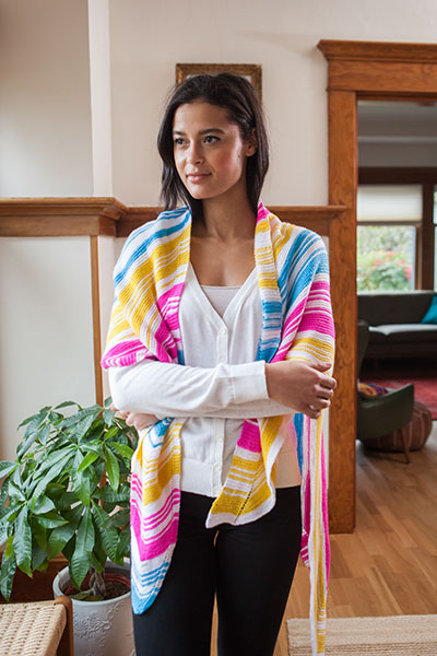 Eclectic Electric Shawl Pattern