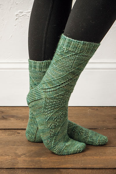 Swirl Sampler Socks Pattern
