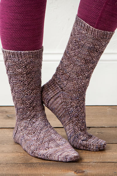 Textured Lace Socks Pattern