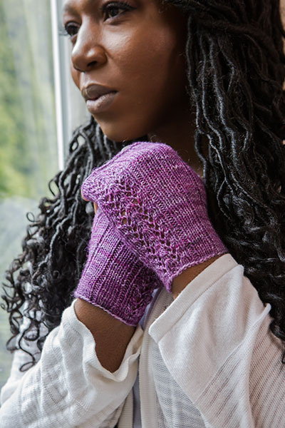 Ivy Fingerless Mitts Pattern