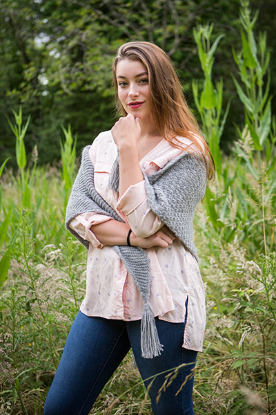 Two Texture Shawl Pattern