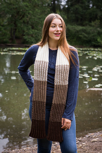 Bark Scarf  Pattern