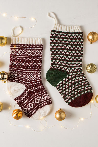 Fair Isle and Geometric Stockings Pattern