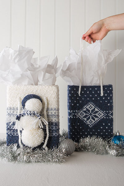 Blizzard Bag Holiday Gift Totes Pattern