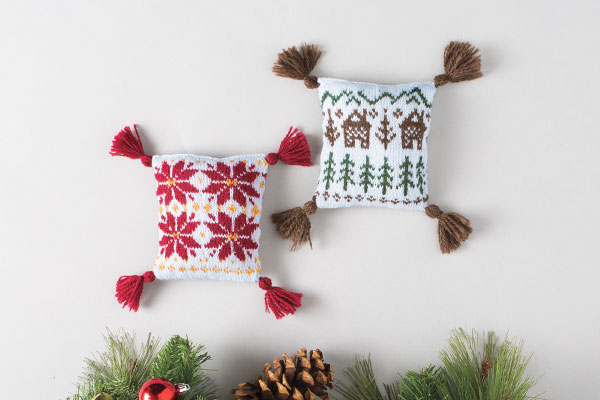 Cabins and Poinsettia Sachets Pattern