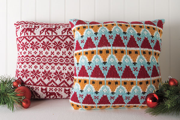 Fair Isle & Festive Fox Pillows Pattern