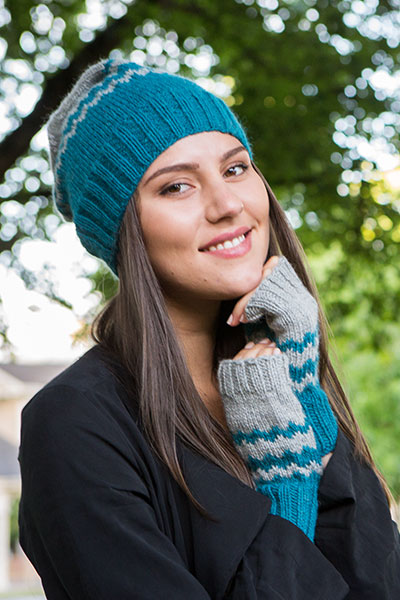 Chevron Hat and Mitts Pattern