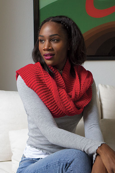 Vertical Lines Scarf Pattern