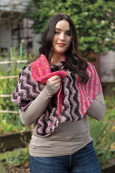 Chevron Pop Shawl Pattern